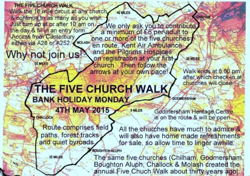Five Church Walk Route