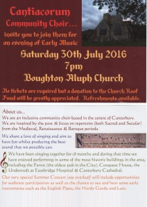 Cantiacorum Choir 30th July 2016